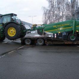 transpot af landbrugsmaskiner