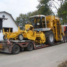 Transport af landbrugsmaskiner