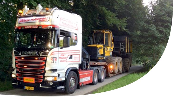 Maskintransport - Transport af entreprenørmaskiner
