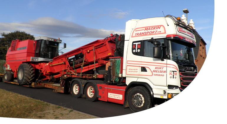maskintransport, Transport af landbrugsmaskiner